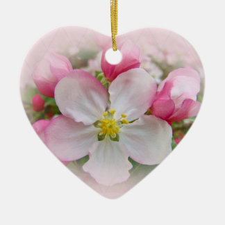 Apple Blossom Time Ceramic Ornament