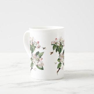 Apple Blossoms and Bees Bone China Mug