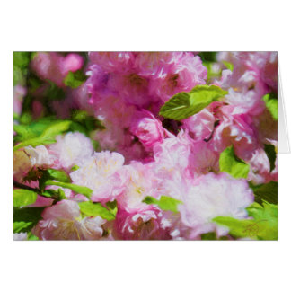 Apple Blossoms Blank Greeting Card