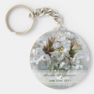 Apple Blossoms Bride & Groom Keychain