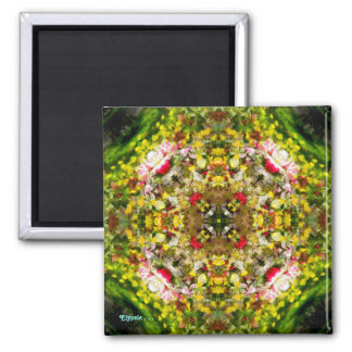 Apple Blossoms, Tulips and Memories Square Magnet
