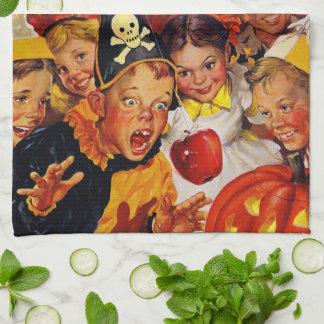 Apple Bobbing Dangers - Funny Halloween Decoration Towels