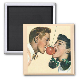 Apple Bobbing Old Fashioned Vintage Magnet
