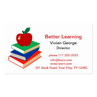 Apple, Books, Education Pack Of Standard Business Cards