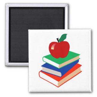 Apple, Books, Education Square Magnet