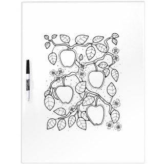 Apple Branch Adult Coloring Dry Erase Whiteboards
