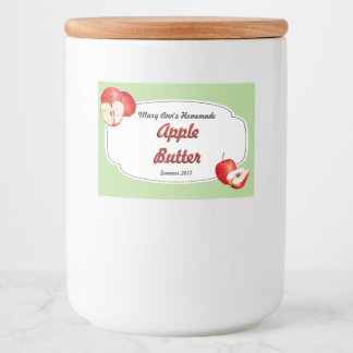 Apple Butter Canning Food Label