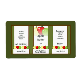 Apple Butter Canning Jar Label