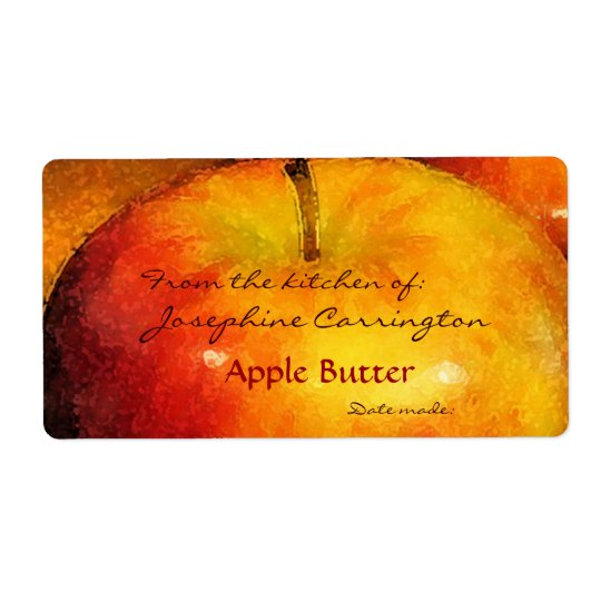 Apple Butter Canning Labels