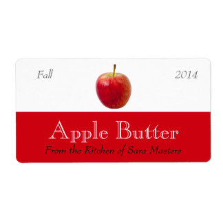 Apple Butter Sauce Canning Labels