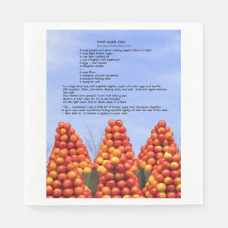 Apple Cake Recipe Paper Napkin