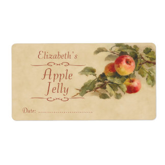 Apple Canning label Shipping Label