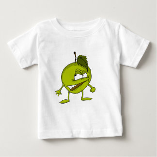 Apple cartoon character with a vicious smile baby T-Shirt