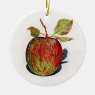 Apple Ceramic Ornament
