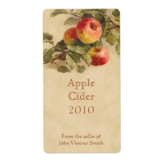 Apple cider bottle label shipping label