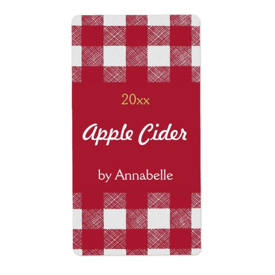 Apple cider canning label shipping label