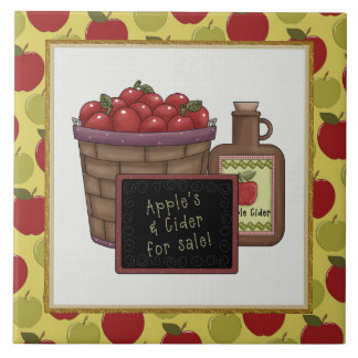 Apple Cider cartoon kitchen tile