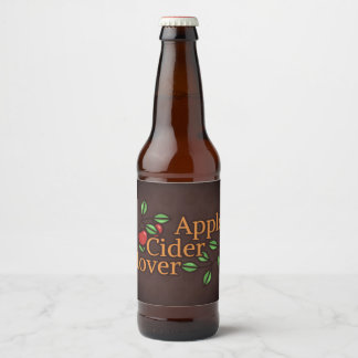 Apple Cider Lover Beer Bottle Label