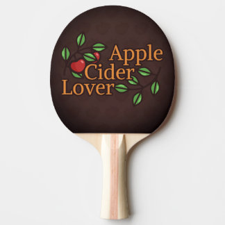 Apple Cider Lover Ping Pong Paddle