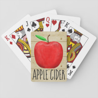 Apple Cider Red Apple Playing Cards