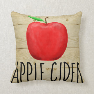 Apple Cider Red Apple Throw Pillow