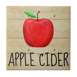 Apple Cider Red Apple Tile