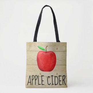 Apple Cider Red Apple Tote Bag