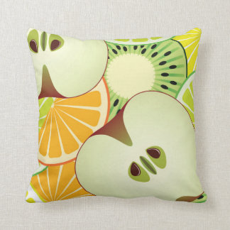 Apple Citrus & Kiwi Pattern Throw Pillow