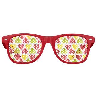 Apple colorful hearts pattern retro sunglasses