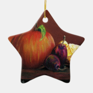 Apple, Damson and Lemon Ceramic Ornament