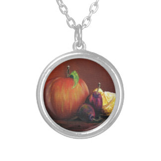 Apple, Damson and Lemon Silver Plated Necklace