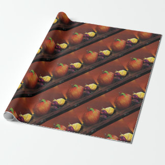 Apple, Damson and Lemon Wrapping Paper