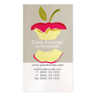 Apple Dietician NutriTionist Weight Loss Health Double-Sided Standard Business Cards (Pack Of 100)