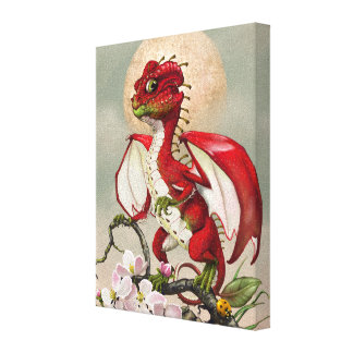 Apple Dragon 8x10 Canvas Print