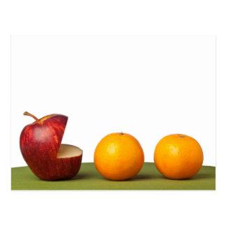 Apple eat orange postcard