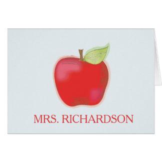 Apple Editable  Notecards Card