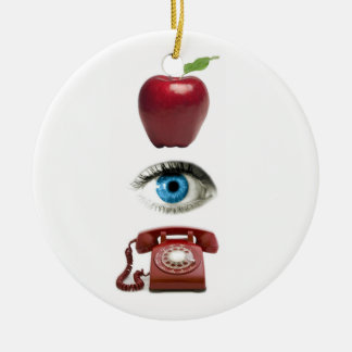 APPLE EYE PHONE tree ornament
