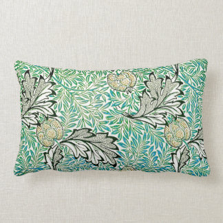Apple Fine Vintage William Morris Wallpaper Lumbar Pillow