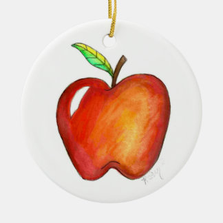 Apple for My Teacher School Education Class Gift Ceramic Ornament