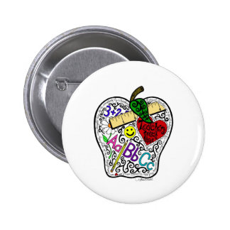 Apple for the teacher 2 inch round button
