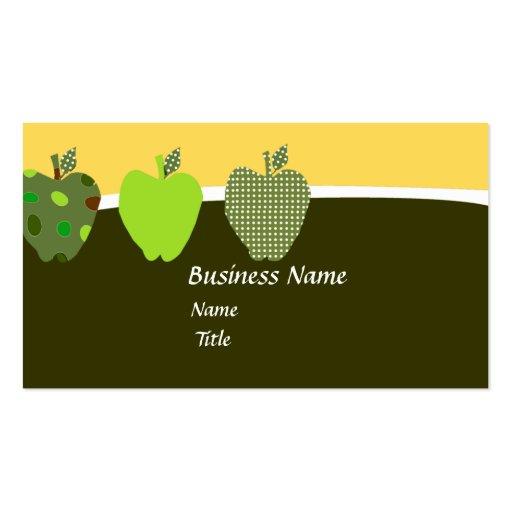 Apple Teacher Business Cards 500 Business Card Templates