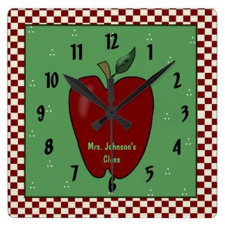 Apple for the Teacher Wall Clock