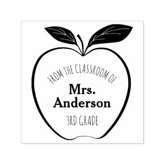 Apple From The Classroom of Personalized Self-inking Stamp