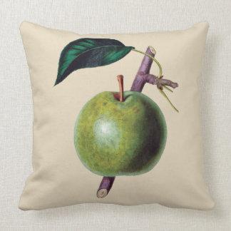 Apple fruit green botanical cushion