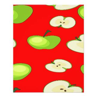 Apple fruit pattern custom flyer
