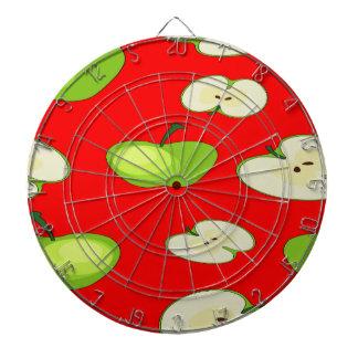 Apple fruit pattern dartboard with darts