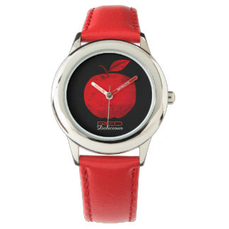Apple Fruit Red Delicious Cool Contrast Red Black Watch