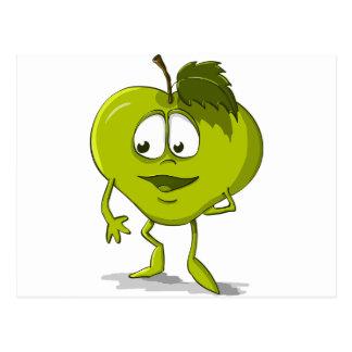 Apple Funny Kindness Cartoon Character Sheet Cute Postcard