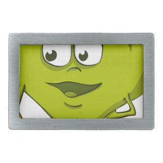 Apple Funny Kindness Cartoon Character Sheet Cute Rectangular Belt Buckle