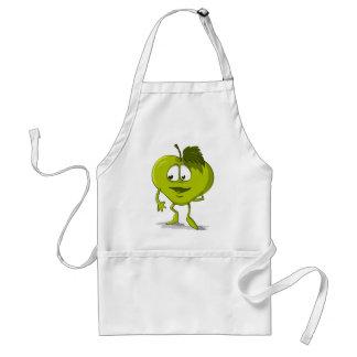 Apple Funny Kindness Cartoon Character Sheet Cute Standard Apron